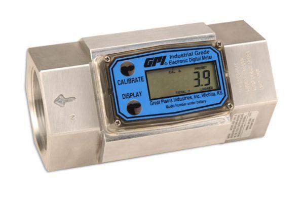 GPI 2-Inch G2 Industrial Aluminum Digital Flow Meter, 20-200 GPM