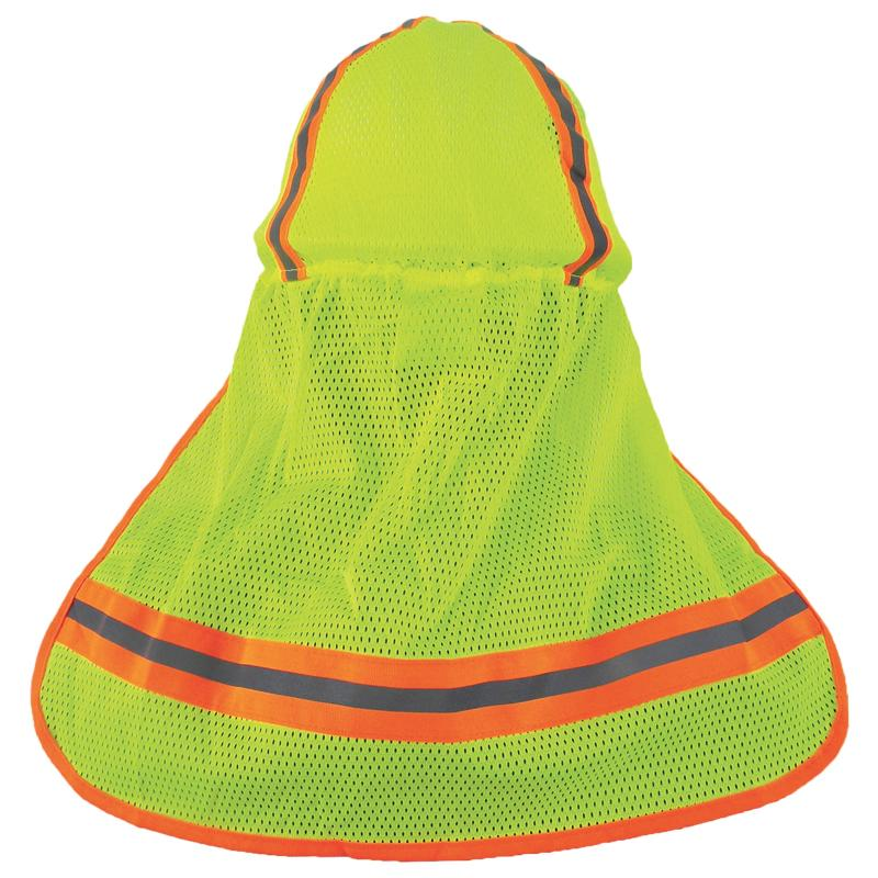 Hard Hat Cover w/Neck Shade/Lime