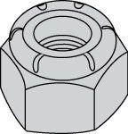 Heavy Hex Thin Height (NTU) Nylon Insert Zinc Plated Steel Lock Nuts