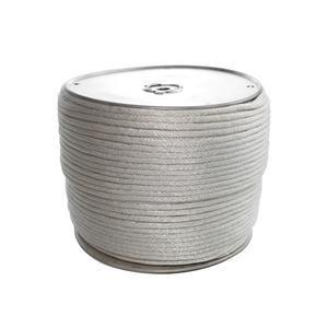 Heavy-Duty Solid Braided Polyester Rope, 1/4 x 1000', Reel