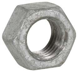 HEX NUT TAPPED OVER-GALV GALVANIZED