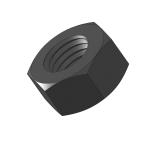 Hex Small Pattern Zinc Black Plated Steel Machine Screw Nuts