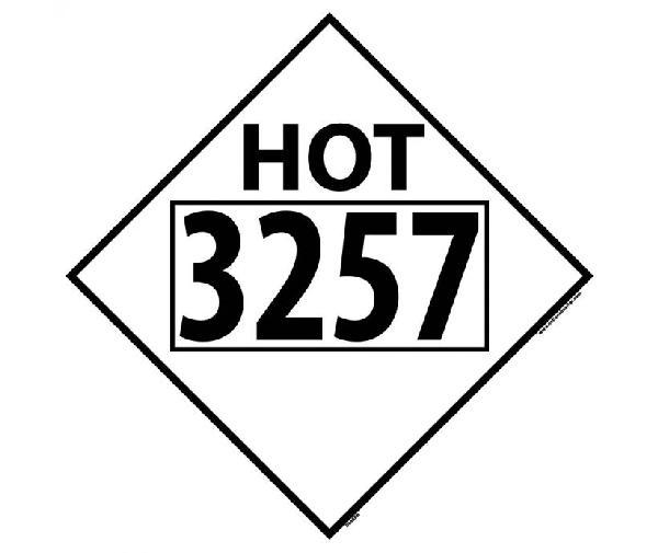 HOT 3257 MISC DOT PLACARD SIGN