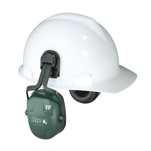 Howard Leight Thunder® Earmuffs, T2H Cap Mount, NRR 25, Dark Green/Black