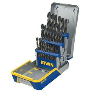 Irwin 29 Piece Black & Gold Metal Index Drill Bit Set