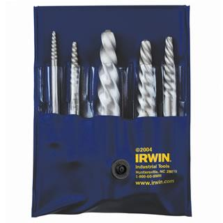 Irwin 9 pc. Spiral Flute Screw Extractors - 535/524 Series Set