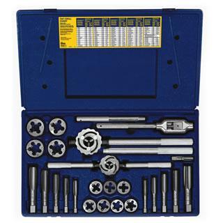 Irwin Hanson 25-pc Fractional Tap & Adjustable / Solid Round Die Set