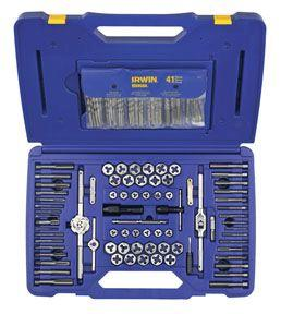 Irwin Hanson 117 pc. Fractional/Metric Tap, Die & Drill Bit Deluxe Set