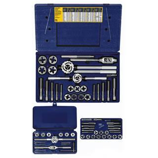 Irwin Hanson 64-pc Machine Screw / Fractional Tap & Solid Adjustable Round Die Set