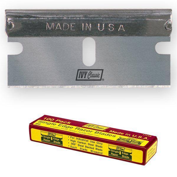 Ivy Classic 11182 100 Pack Single Edge Razor Blade