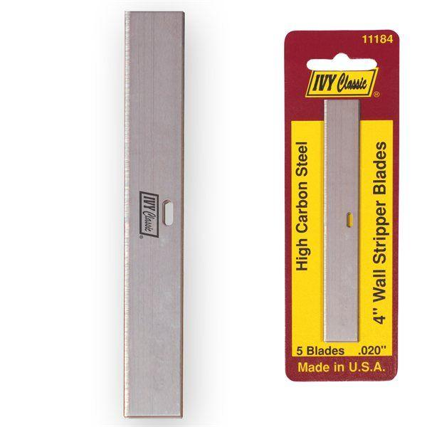Ivy Classic 11184 5 Pack 4 Wall Stripper Blades