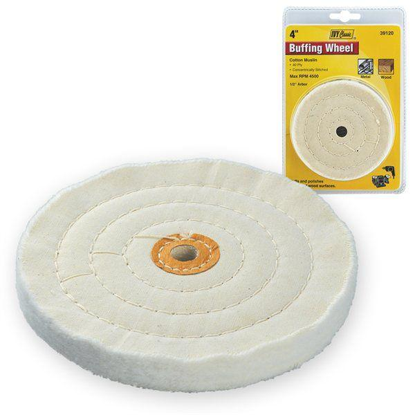 Ivy Classic 39120 4 White Buffing Wheel 1/2 Arbor