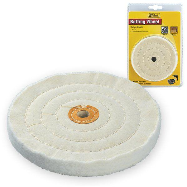 Ivy Classic 39121 6 White Buffing Wheel 1/2 Arbor