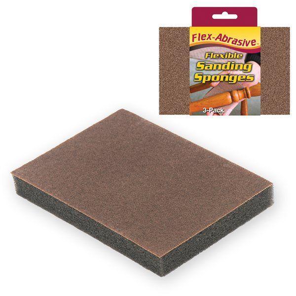 Ivy Classic 42022 3 Pack Flexible Sponge-100 Grit