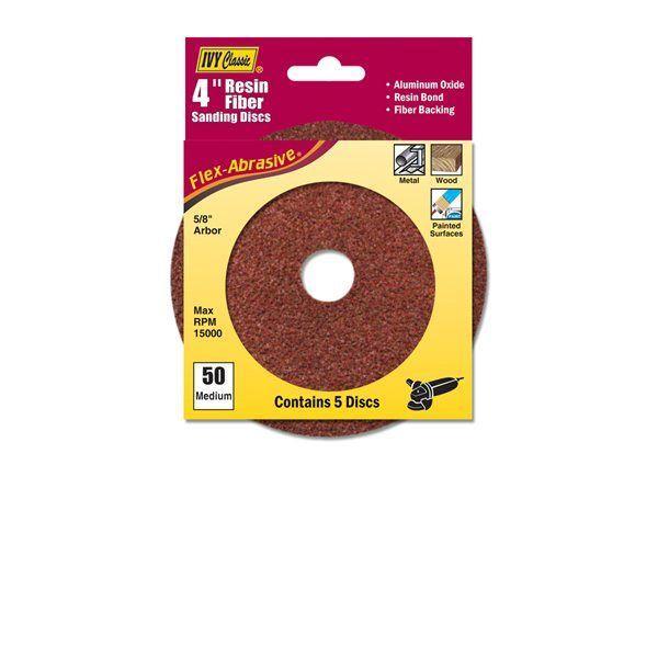 Ivy Classic 42302 4 Resin Fiber Disc 50 Grit AL