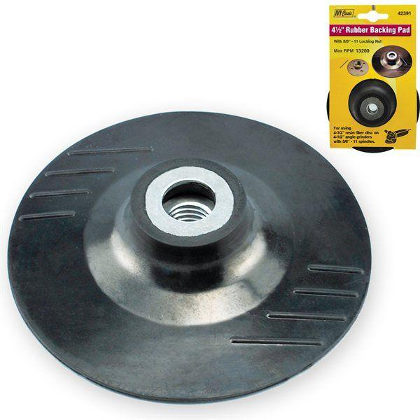 Ivy Classic 42391 4-1/2 Rubber Backing Pad with 5/8-11 Nut