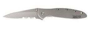 Kershaw 1660ST Ken Onion Aluminum Leek Knife - Serrated