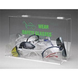 Large-Capacity Eyewear Dispenser w/ WEAR SAFETY GLASSES Legend