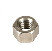 Left Hand Zinc Plated Steel Hex Nuts