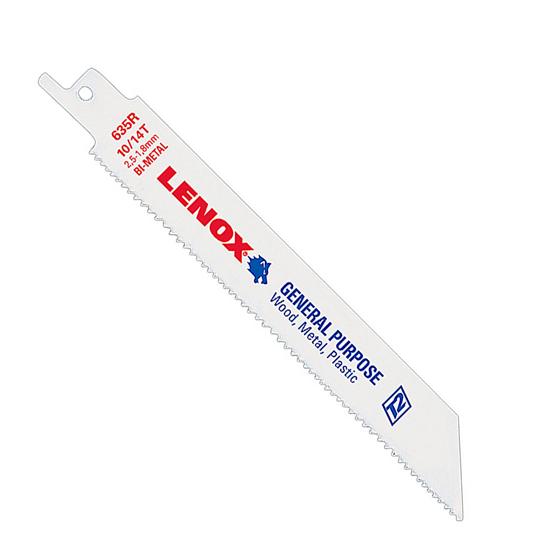 Lenox 610R Bi-Metal General Purpose Reciprocating Saw Blade, Pack of 5