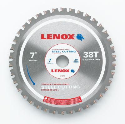 Lenox Metal Cutting Circular Saw Blade, 20mm Arbor