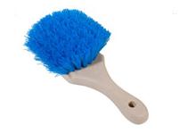 Magnolia Brush 8 Wood Block Blue Crimped Plastic Short Handle Fender Brush