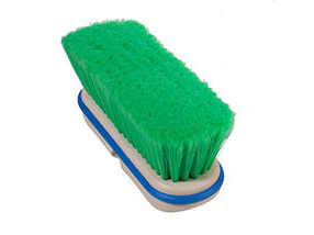 Magnolia Brush 9 Block Dark Green Flagged Nylon Wash Brush
