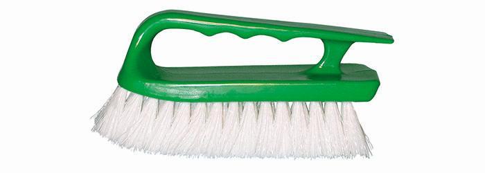 Magnolia Brush White Polypropylene Handle Hand Scrub Brush
