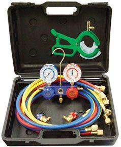 Mastercool 98660-PROM Dual R-134a/R-12 Manifold Gauge Set