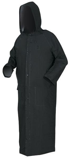 MCR Safety Classic Plus Black Standard Duty .35mm PVC/Polyester 60 Rider Rain Coat