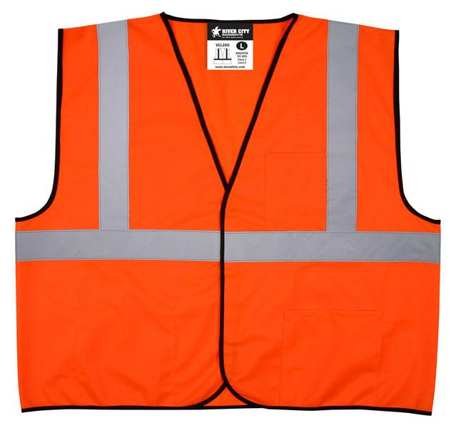 MCR Safety Economy Class 2 ANSI Orange Solid Hook & Loop Safety Vest