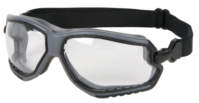 MCR Safety ForceFlex Clear Anti-Fog Lens Gray Frame Safety Goggles
