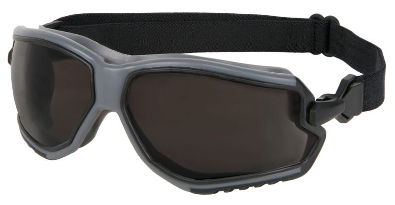 MCR Safety ForceFlex Gray Anti-Fog Lens Gray Frame Safety Goggles