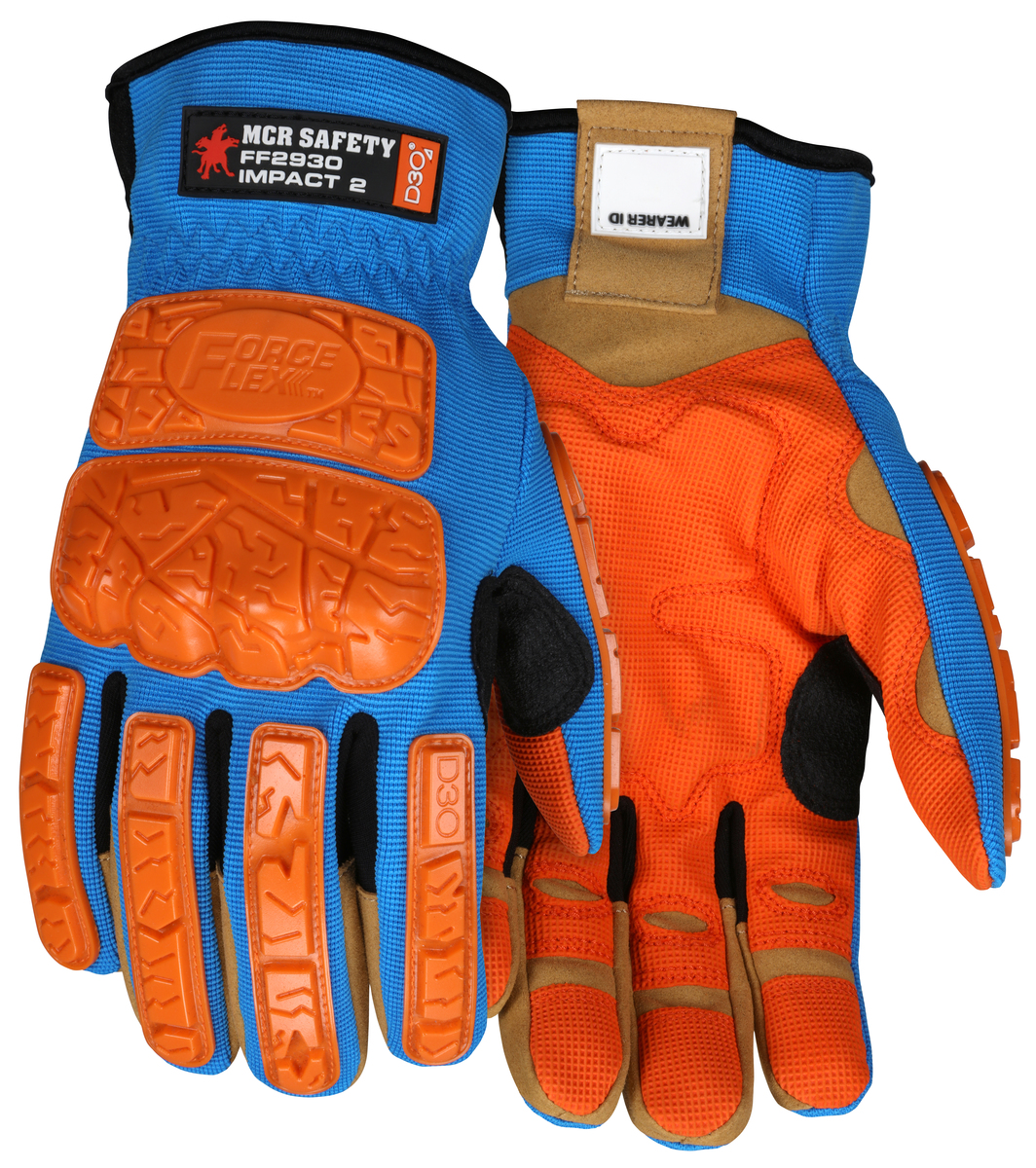 MCR Safety ForceFlex® MaxGrid™ Reinforced Padded Palm Mechanics Gloves