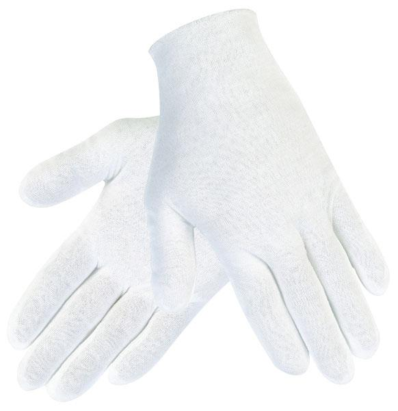 MCR Safety Ladies Small White Cotton/Polyester Reversible Inspector Gloves