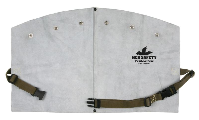 MCR Safety Memphis Welding 14 Gray Side Split Leather Bib W/Snaps