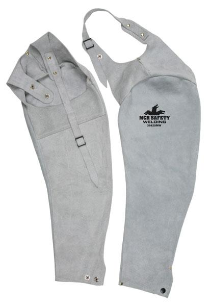 MCR Safety Memphis Welding 25 Gray Leather Sleeves W/Adjustable Neck Straps