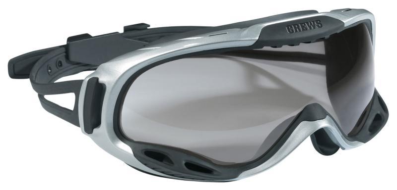 MCR Safety PGX1 Clear Anti-Fog Lens Rubber Strap Safety Goggles
