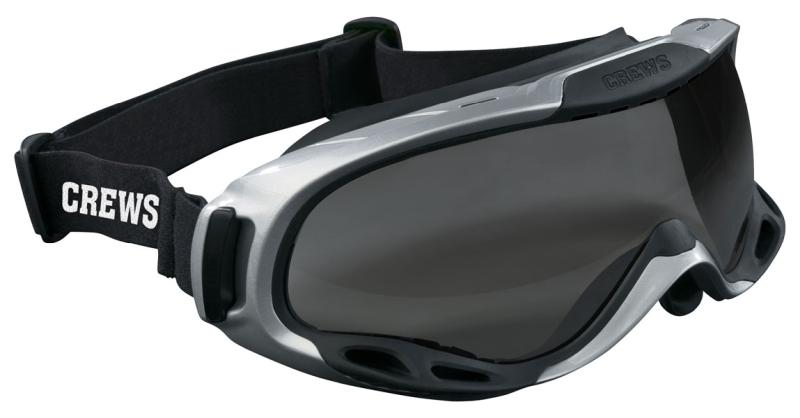 MCR Safety PGX1 Gray Anti-Fog Lens Elastic Strap Safety Goggles