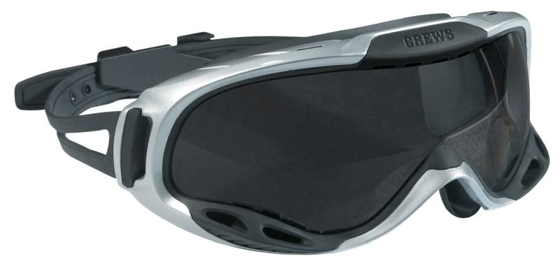 MCR Safety PGX1 Gray Anti-Fog Lens Rubber Strap Safety Goggles