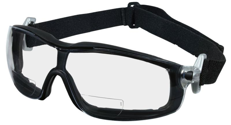 MCR Safety Rattler Clear Anti-Fog Magnifiers 2.0 Strength Lens Safety Goggles