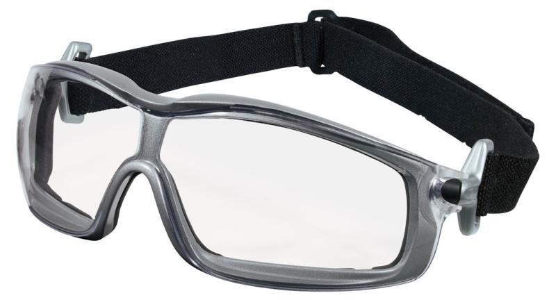 MCR Safety Rattler Clear Anti-Fog Silver Frame Safety Goggles