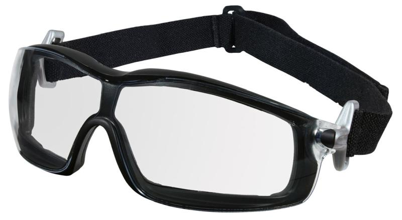 MCR Safety Rattler Clear Black Frame Anti-Fog Lens Safety Goggles