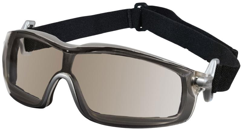 MCR Safety Rattler Clear Mirror Anti-Fog Silver Frame Safety Goggles