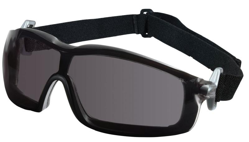 MCR Safety Rattler Gray Anti-Fog Black Frame Safety Goggles
