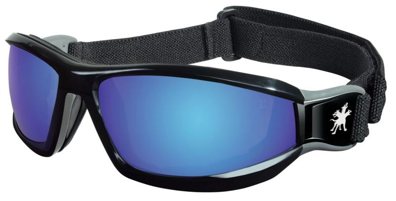 MCR Safety Reaper Blue Diamond Mirror Lens Safety Goggles