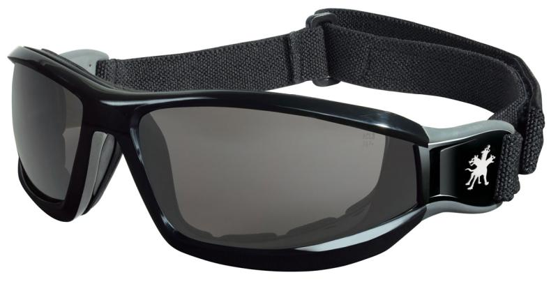 MCR Safety Reaper Gray Anti-Fog Lens Black Head Band Safety Goggles