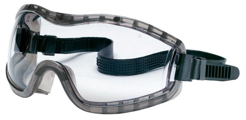 MCR Safety Stryker Clear Anti-Fog Lens Indirect Vent Rubber Strap Premium Safety Goggles