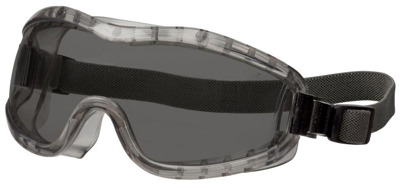 MCR Safety Stryker Gray Anti-Fog Lens Indirect Vent Elastic Strap Premium Safety Goggles