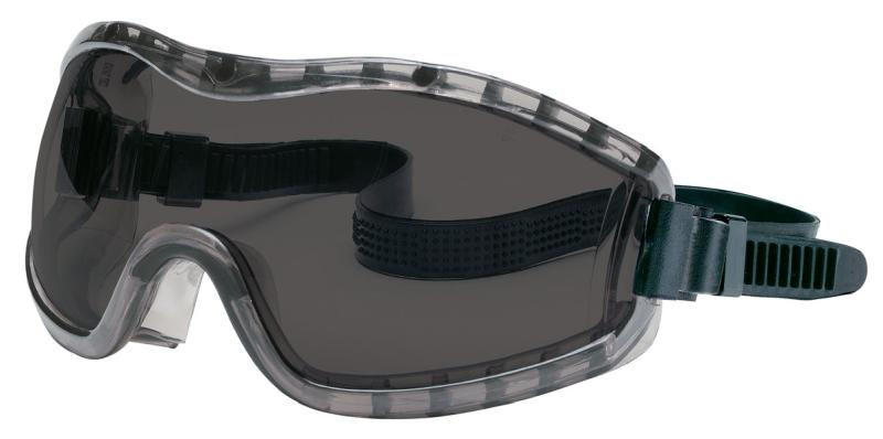 MCR Safety Stryker Gray Anti-Fog Lens Indirect Vent Rubber Strap Premium Safety Goggles
